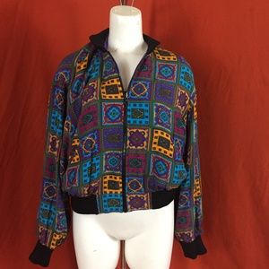 VINTAGE 80s Reversible Paisley/Purple Windbreaker